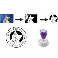 Customise Photo / Image  Self-Inking Rubber Stamp (Round) - Assorted Size