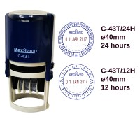 "MaxStamp 42mm Self-Inking ""RECEIVED"" Time & Date Stamp in 12hrs/24hrs Format"