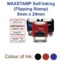 MaxStamp Self-Inking Flipping Stamp - RECTANGLE 8mm x 24mm