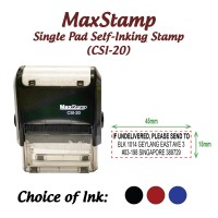 MaxStamp Self-Inking Flipping Stamp - RECTANGLE 15mm x 45mm