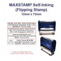 MaxStamp Self-Inking Flipping Stamp - RECTANGLE 12mm x 72mm