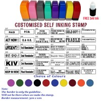 Customised/Personalised Self-Inking MESSAGE Rubber Stamp (30mm x 10mm)