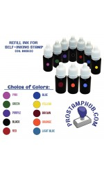 Oil-Based Refill Ink for Pre-Inked Flash Stamps - 10ml/bottle