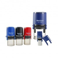 Customise MaxStamp SIngle Pad Self-Inking Flipping Stamp - Round (Assorted Sizes Available)