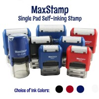 Customise MaxStamp SIngle Pad Self-Inking Flipping Stamp - Rectangle (Assorted Sizes Available)