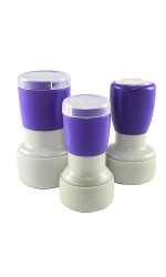 Customised / Personalised ROUND Company Business Stamp Pre-Inked Flash Stamps (Assorted Size)