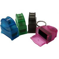 Pocket size Self-Inking Rubber Stamp with Keychain 6mm x 24mm