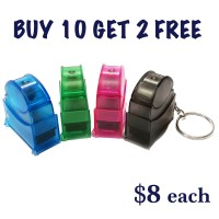 Pocket size Self-Inking Rubber Stamp with Keychain 6mm x 24mm (BUY 10 GET 2 FREE)