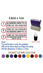 Customise Company Business Bank Deposit Details (3.8cm x 1cm)