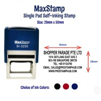 MaxStamp Self-Inking Flipping Stamp - RECTANGLE 29mm x 50mm