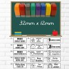 School Reopens - Customised /Personalised Student Name and Class Tag Self-Inking Rubber Stamp 32mm x 12mm