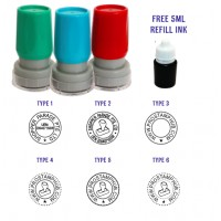 Customised  ROUND Company Business Rubber Stamp - 22mm in Diameter