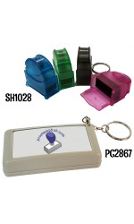 Pre-Inked Flash RECTANGLE Rubber Stamp (with KEYCHAIN)