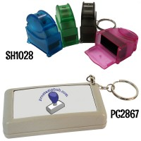 Pre-Inked Flash Stamp (KEYCHAIN) 6mm x 24mm (Code: SH1028) RECTANGLE