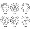 Customised / Personalised ROUND Company Business Stamp Pre-Inked Flash Stamps