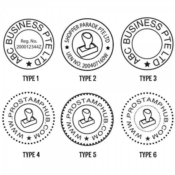 common seal template - customised personalised round company business stamp pre
