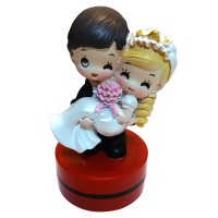 Wedding Couple (Bride & Groom) Customise Self-inking Round Rubber Stamp ø40mm